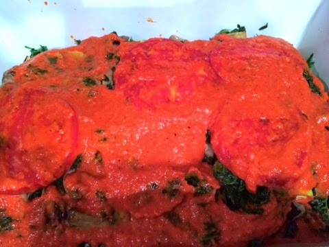 red-pepper-sauce-vegetable-lasagna