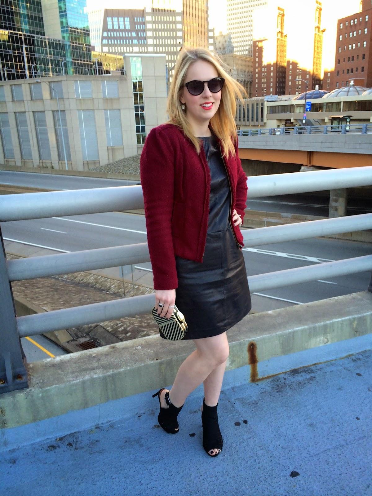 faux-leather-shift-dress