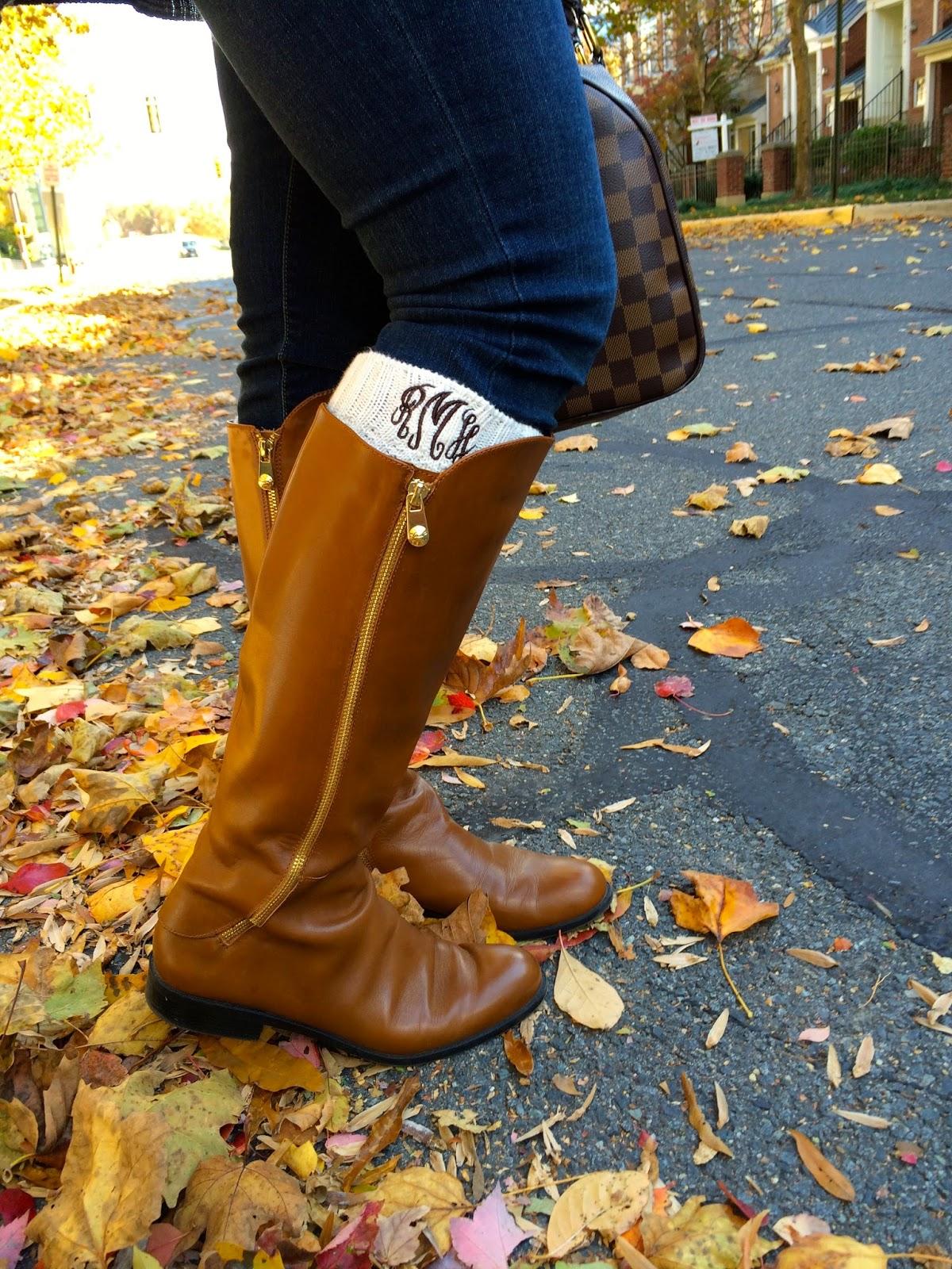 monogram-boot-socks