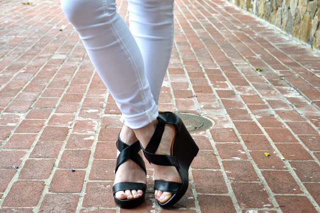 black-wedge-sandals