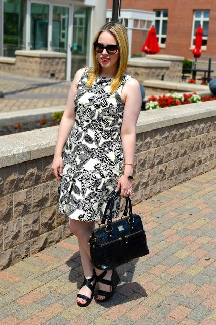 black-white-floral-dress