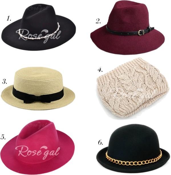 rosegal-hats