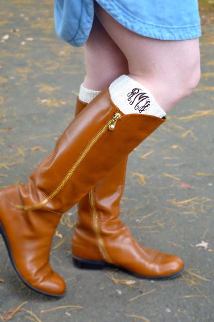 monogrammed-boot-socks