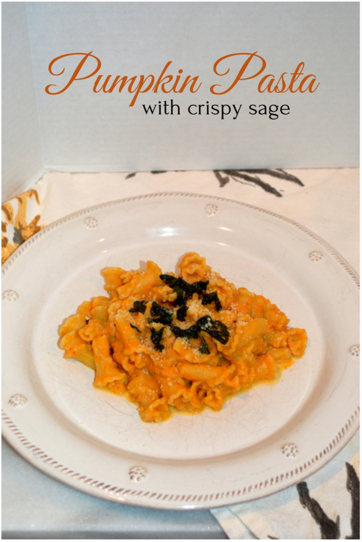 pumpkin pasta with crispy sage - A Blonde's Moment