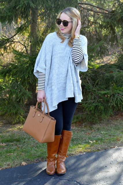 poncho-turtleneck-outfit