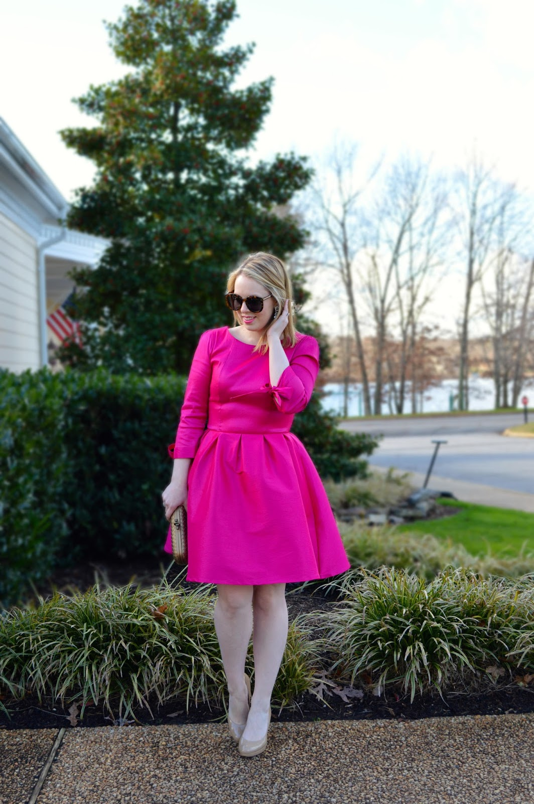 Valentine's Day Dress & A Giveaway - A Blonde's Moment