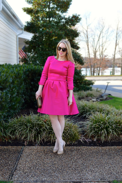 hot-pink-dress-outfit