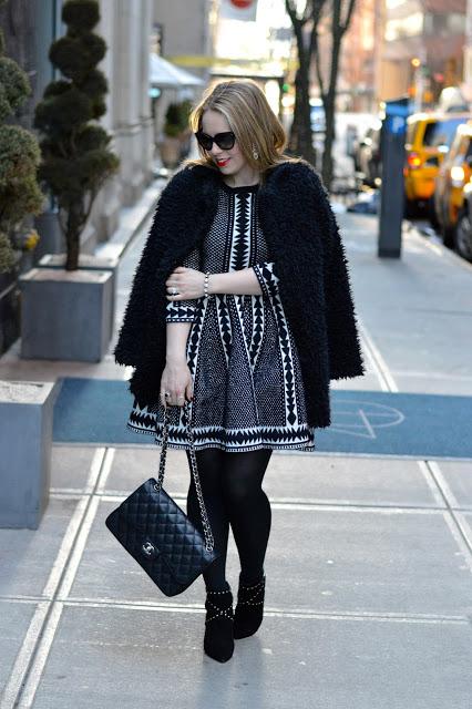 black-white-sweater-dress