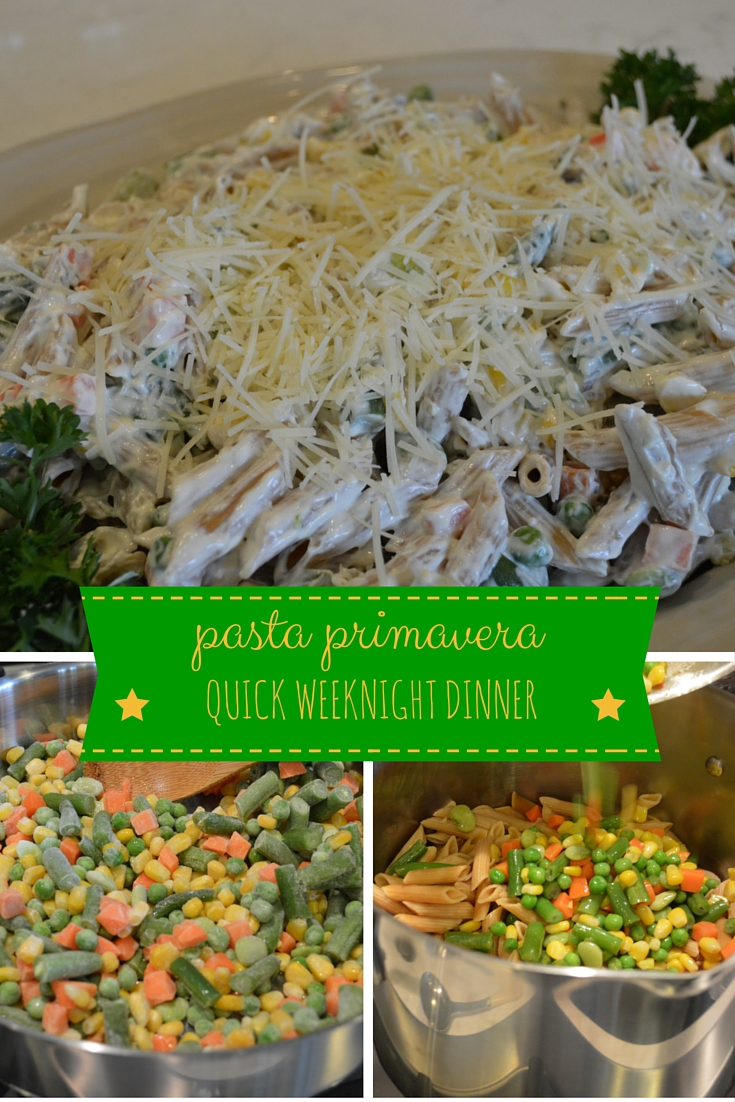 weeknight dinner pasta primavera