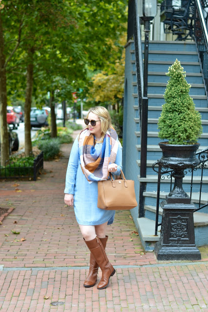 fall-blanket-scarf-outfit-idea