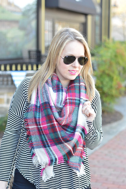 pink-plaid-blanket-scarf-outfit