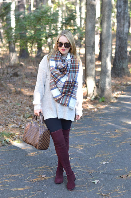 burgundy-over-the-knee-boots-outfit