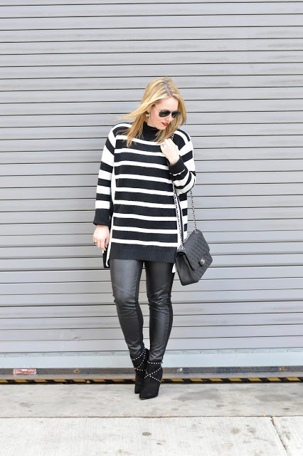 black-white-stripe-sweater-outfit