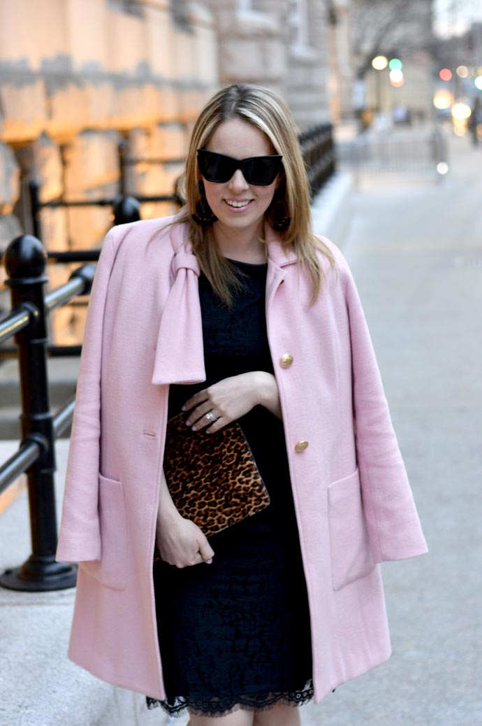 black-lace-dress-leopard-clutch