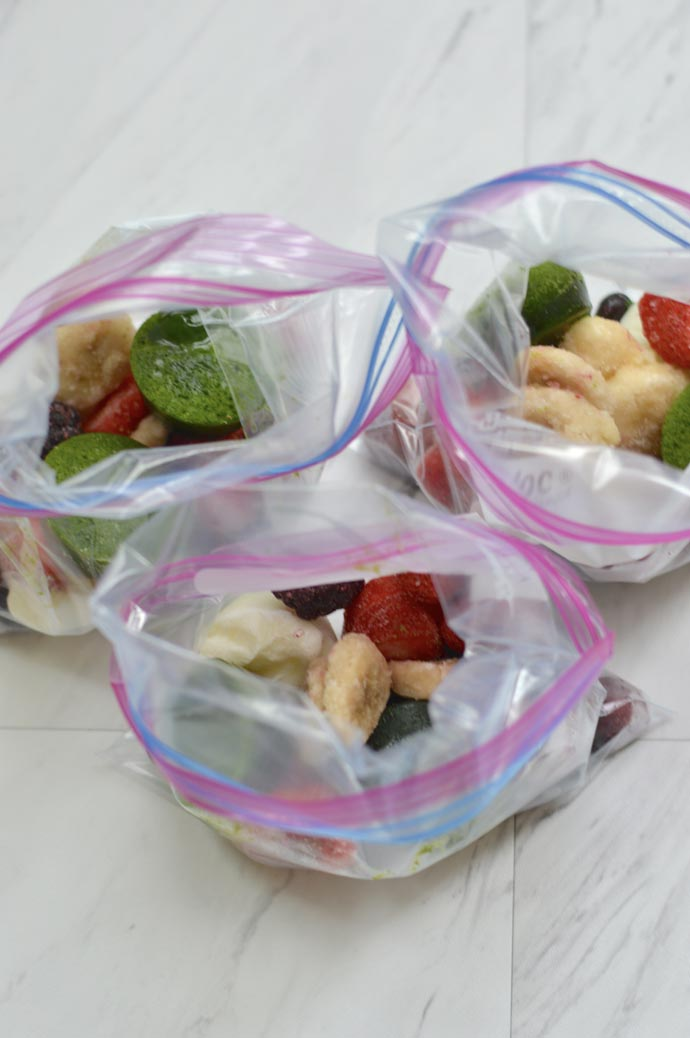 make ahead smoothie bags recipe A Blonde's Moment @rachmccarthy7