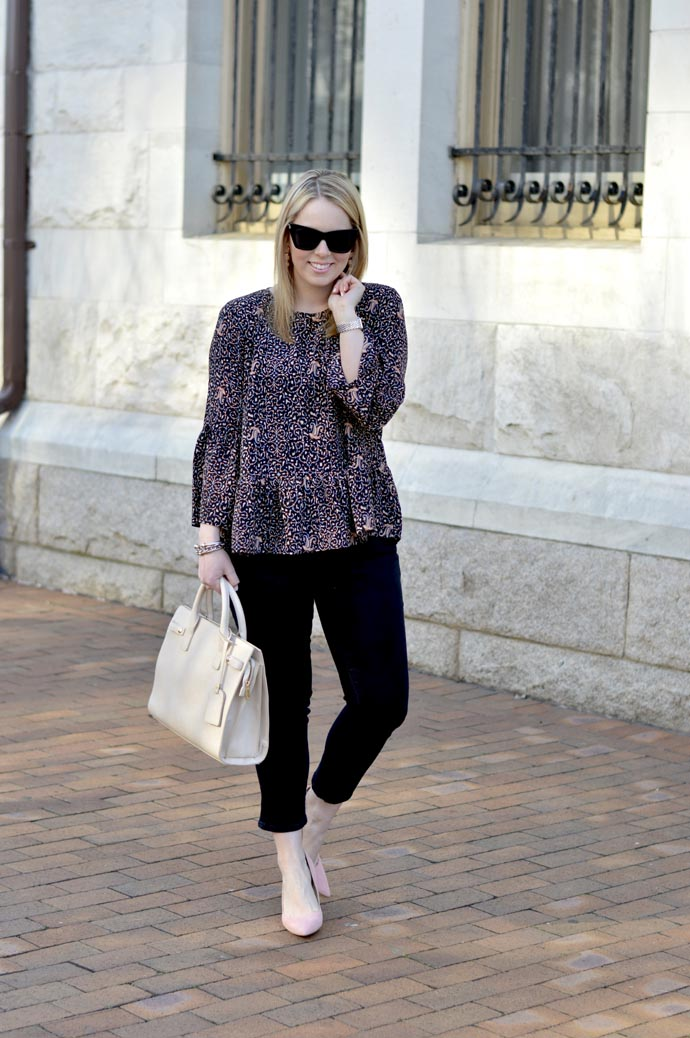 cropped flared jeans for spring - A Blonde's Moment - @rachmccarthy7