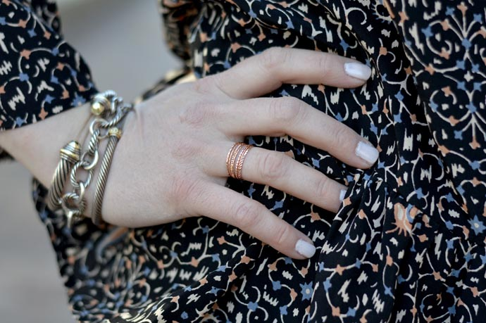 rose gold stacking ring - A Blonde's Moment - @rachmccarthy7