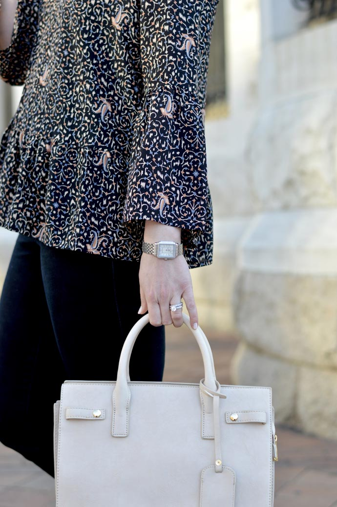 bell sleeve printed spring top - A Blonde's Moment - @rachmccarthy7