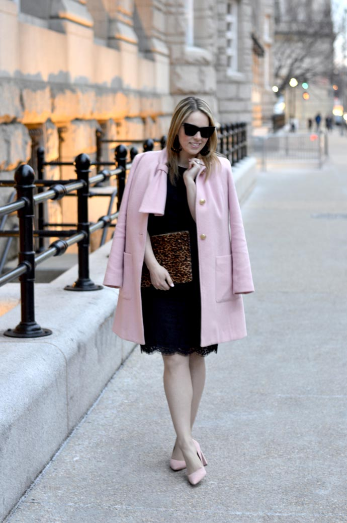 Blush Pink Coat & Reader Survey - A Blonde's Moment