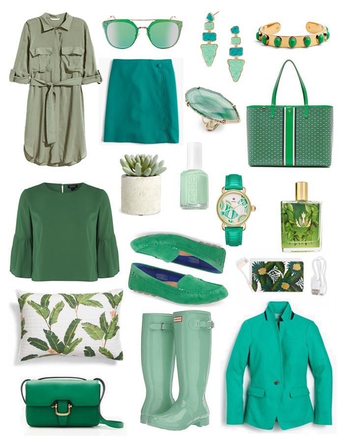 green outfit inspiration for march and spring