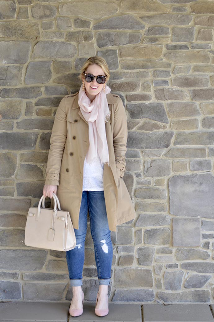 how to wear a trench coat in the spring