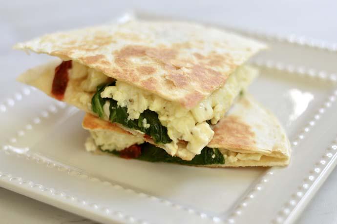 breakfast quesadillas recipe A Blonde's Moment