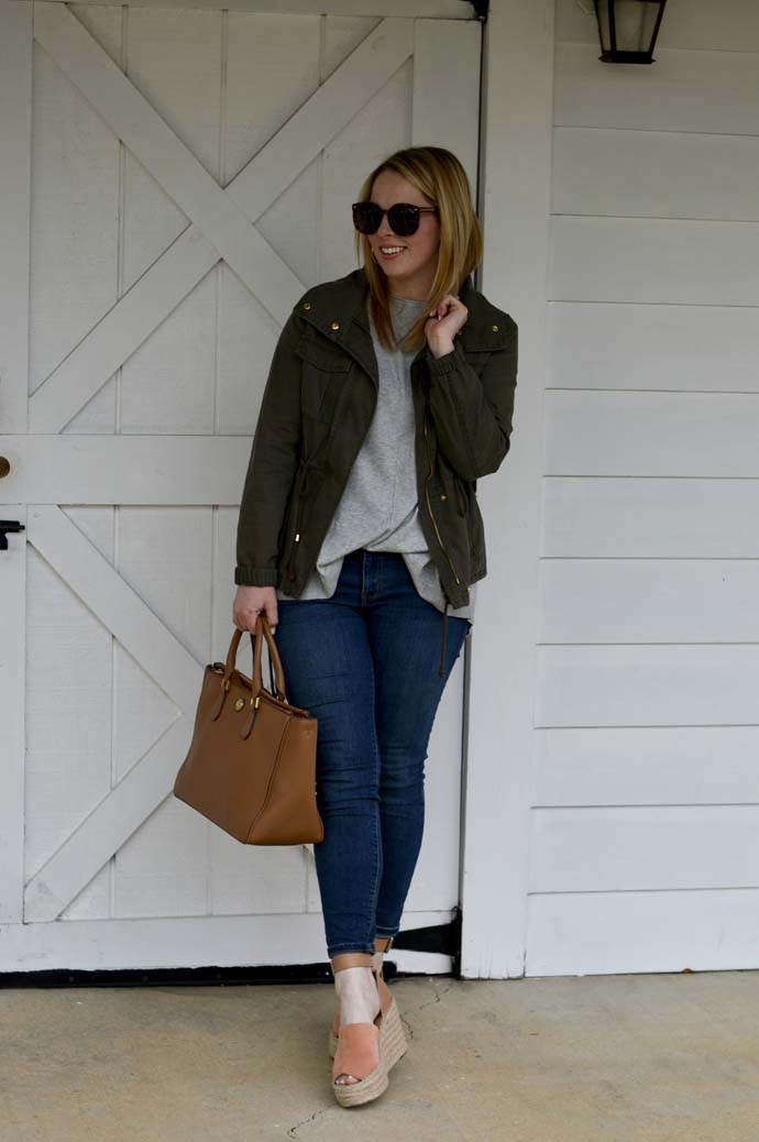 Spring Utility Jacket Outfit A Blonde's Moment
