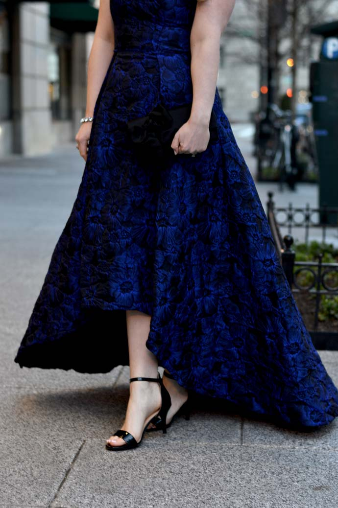 formal black and navy dress rent the runway