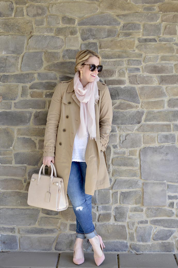 spring trench coat outfit