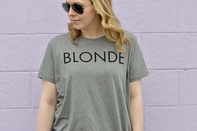 Blonde T-shirt BRUNETTE @rachmccarthy7