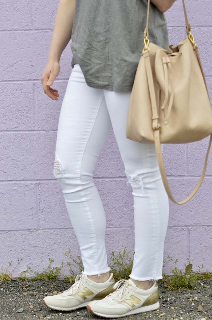 White Distressed Jeans @rachmccarthy7