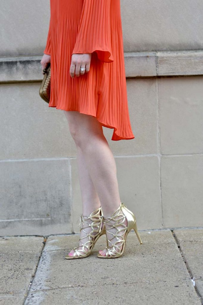 Gold Caged Lace Up Sandals @rachmccarthy7