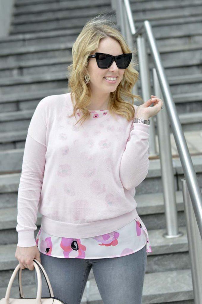 Cabi Pink Floral Top