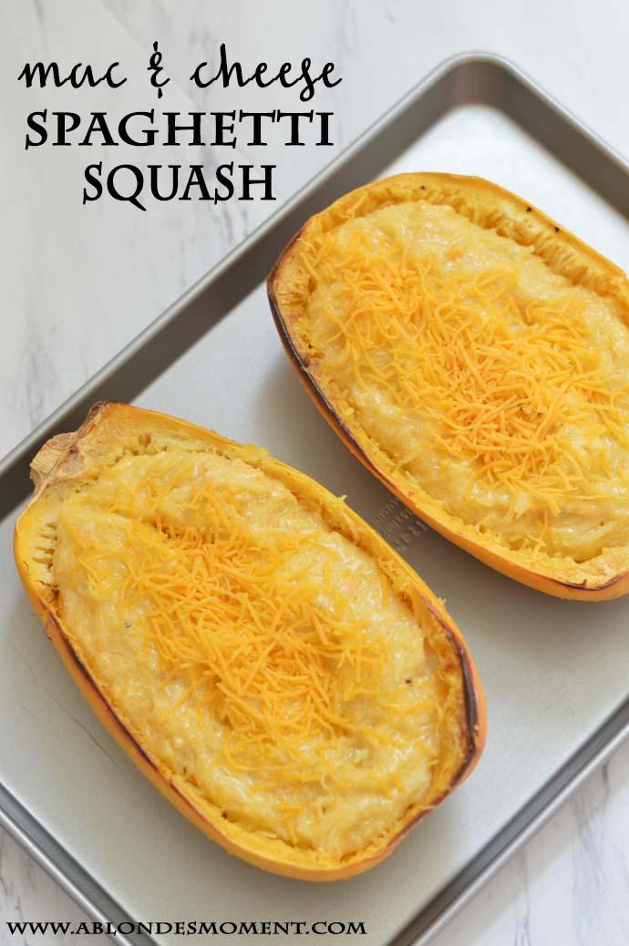 Mac & Cheese Spaghetti Squash Recipe @rachmccarthy7