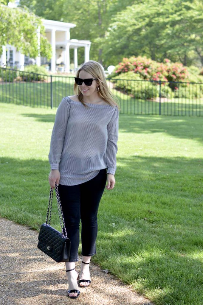 Spring Date Night Outfit Ideas Off the Shoulder Top