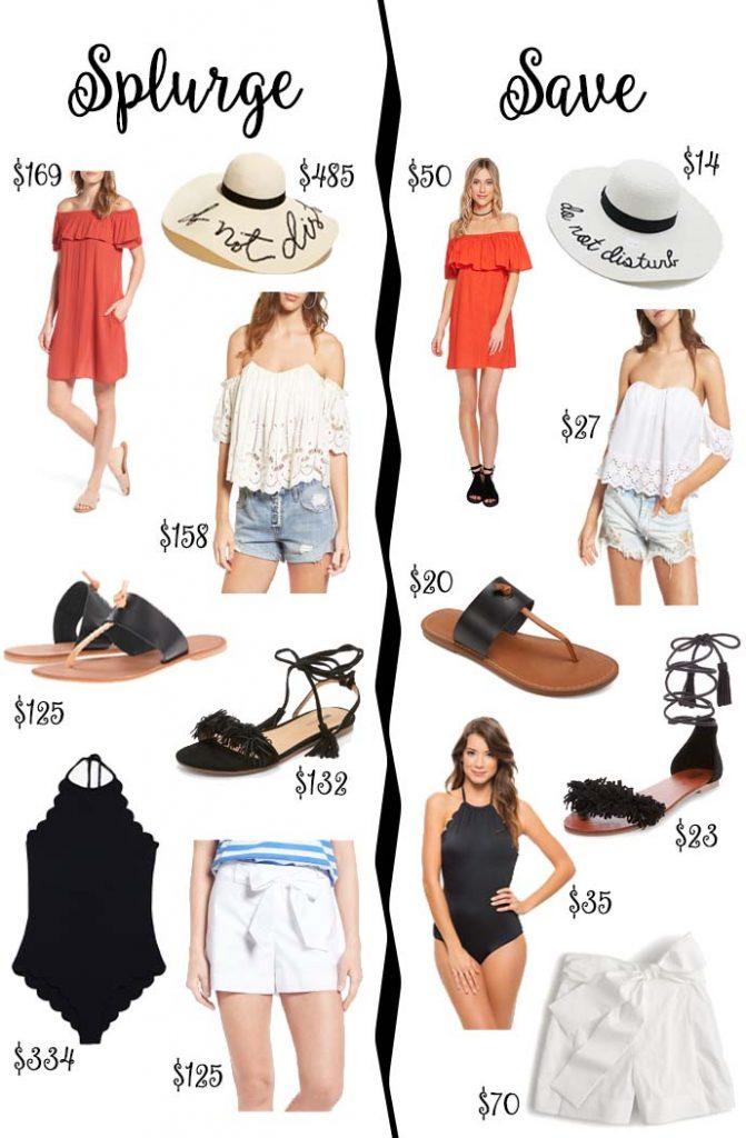 Summer Essentials Splurge vs. Save @rachmccarthy7