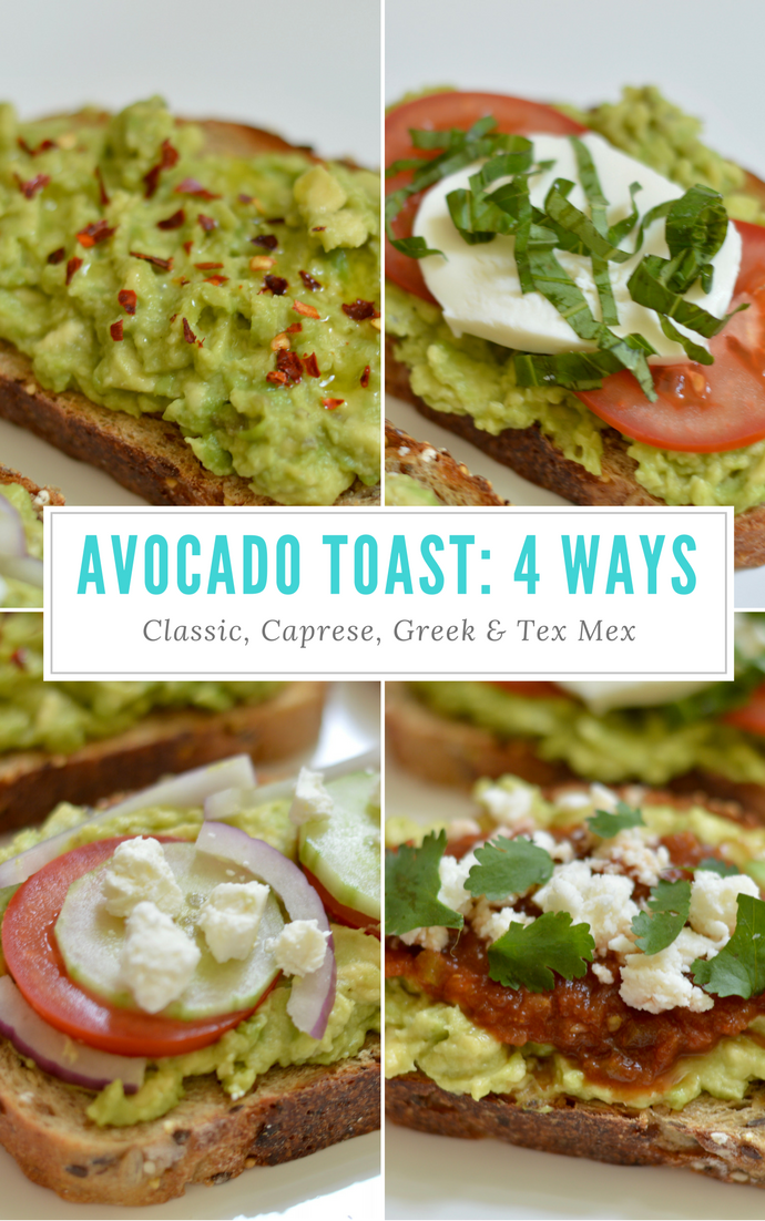 Avocado Toast 4 Ways @rachmccarthy7