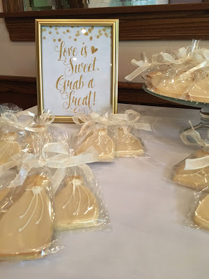 Wedding Dress Sugar Cookies Favor