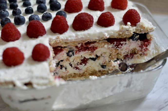 Berry Icebox Cake Recipe @rachmccarthy7