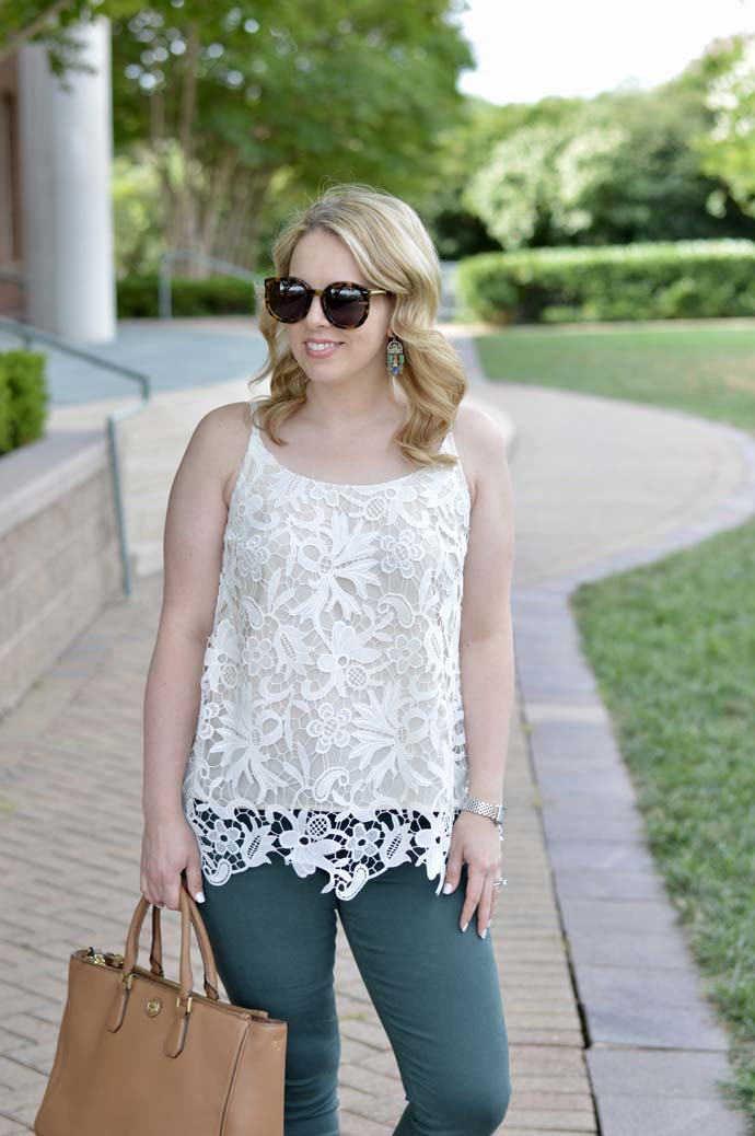 Cabi Lace Cami Outfit