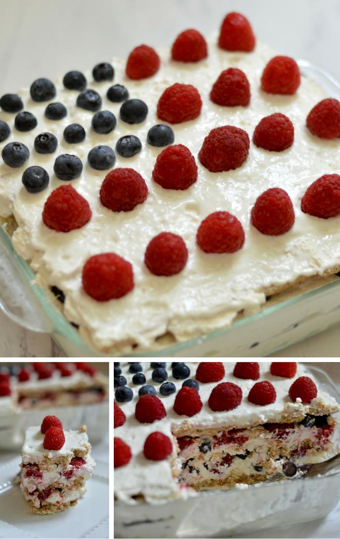 American Flag Icebox Cake @rachmccarthy7