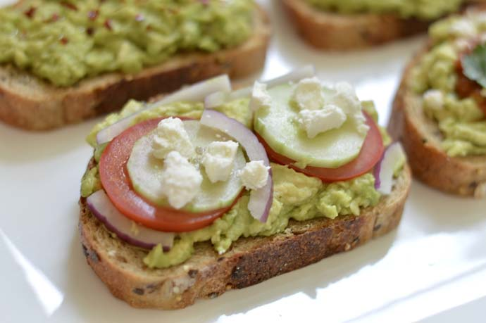 Greek Avocado Toast Recipe @rachmccarthy7