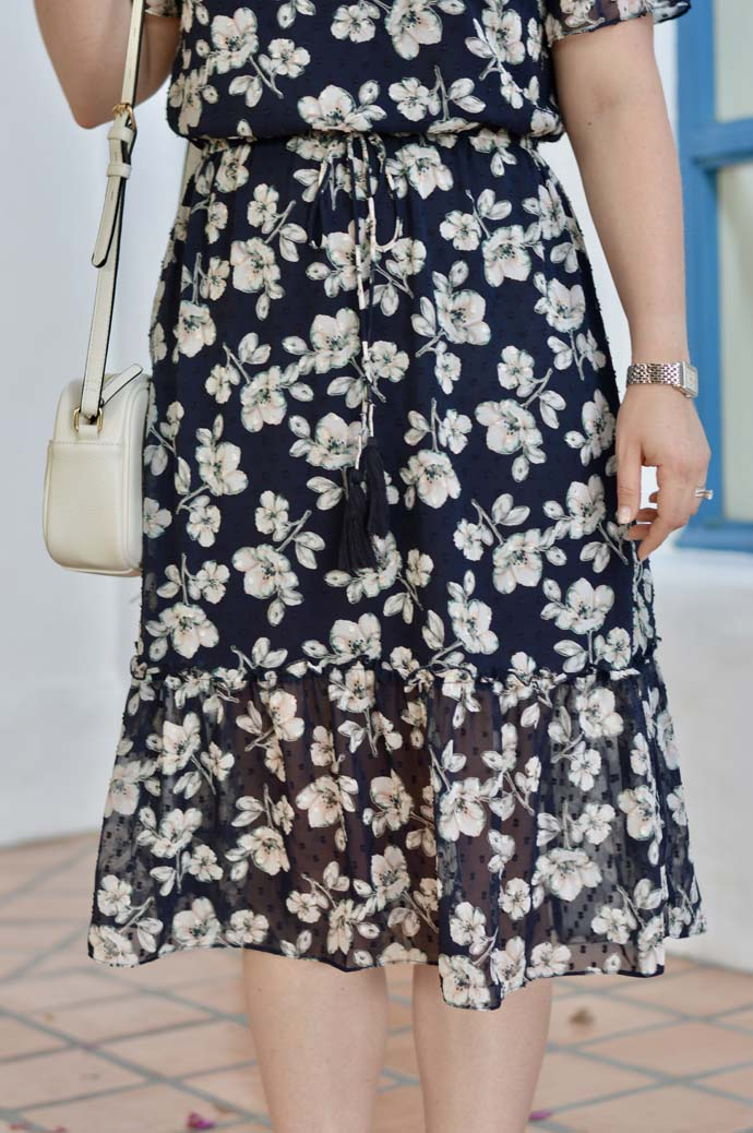 Spring floral midi dress