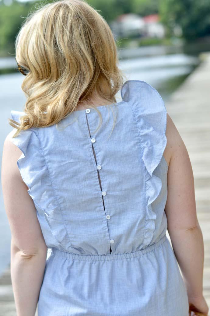 Ruffle Detail on Dress