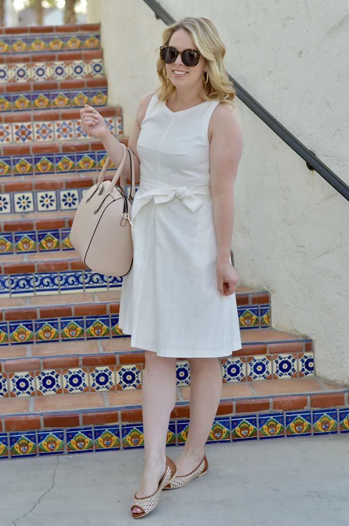 White Linen Dress Ann Taylor