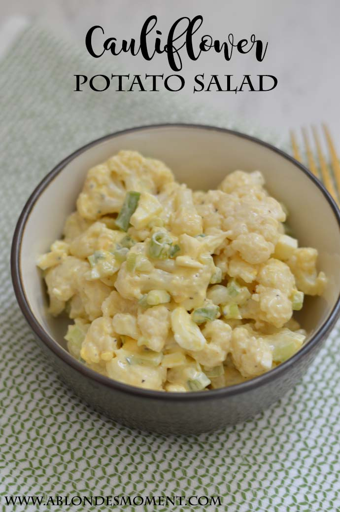 healthy cauliflower potato salad recipe @rachmccarthy7