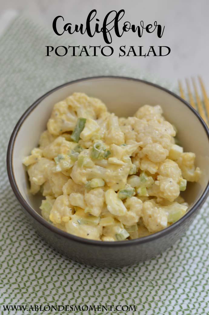 healthy cauliflower potato salad recipe @rachmccarthy7