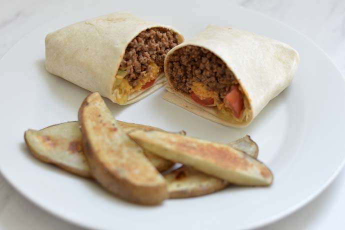cheeseburger burrito recipe