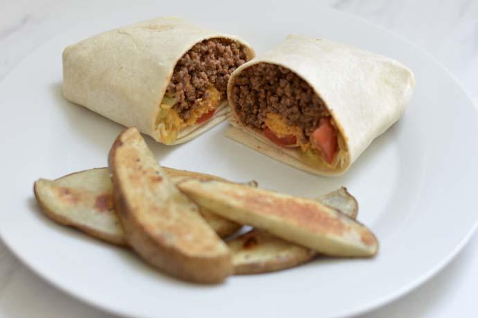 cheeseburger burrito recipe