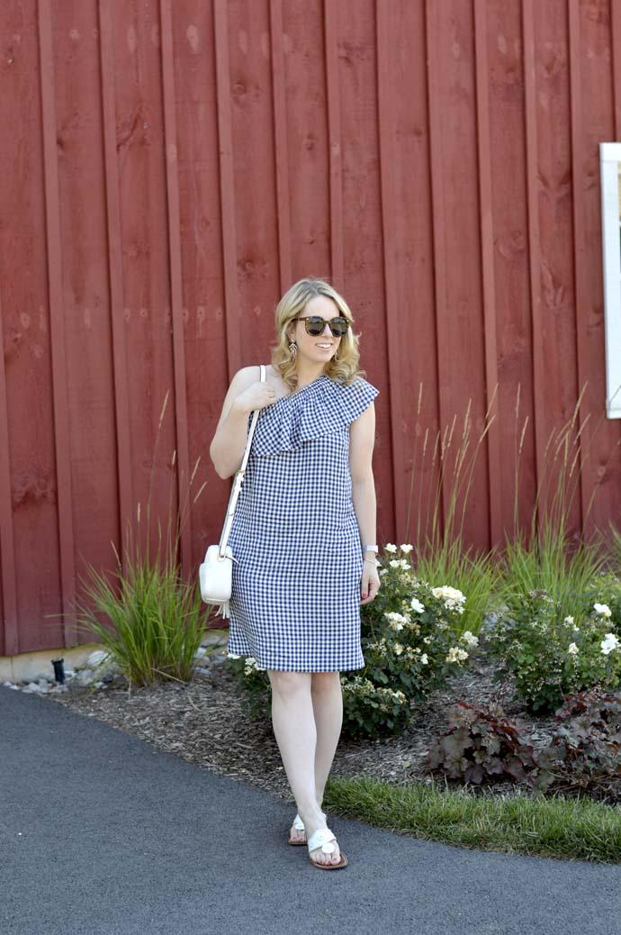 cute summer gingham dress